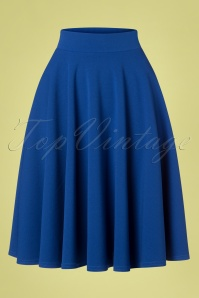 50s Julie Swing Skirt in Royal Blue