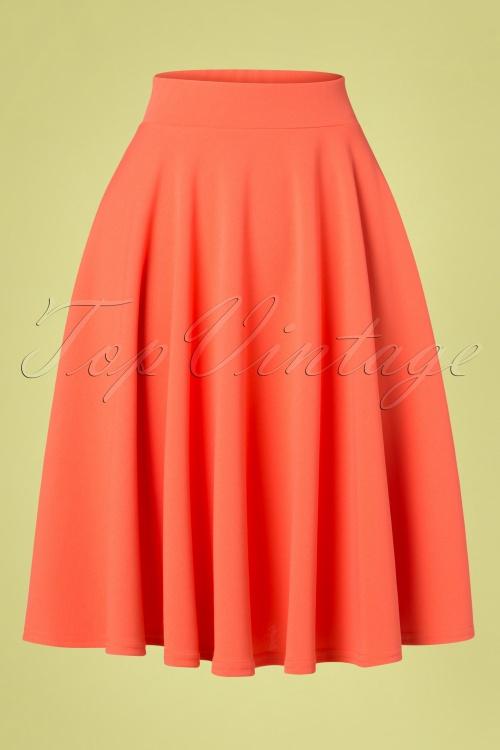 Vintage Chic 29342 50s Julie Coral Swing Skirt 20190307 002W