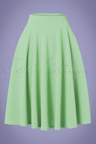 50s Julie Swing Skirt in Meadow Green