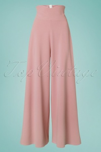 40s Marlene Trousers in Blush