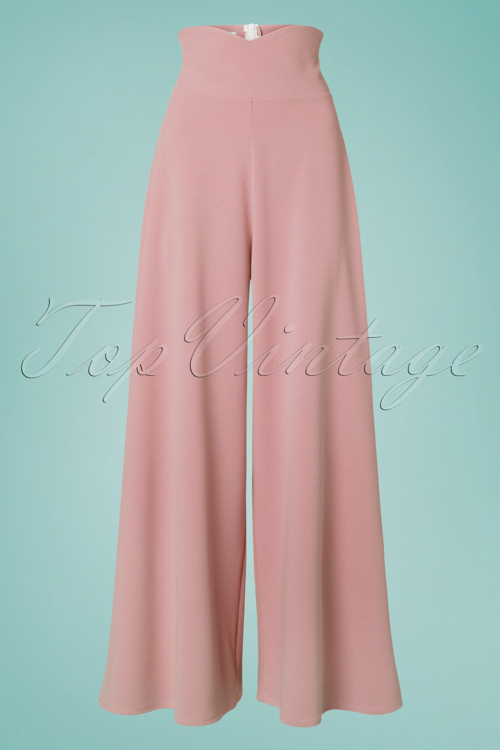1940s Dresses and Clothing UK | 40s Shoes UK 40s Marlene Trousers in Blush £31.16 AT vintagedancer.com