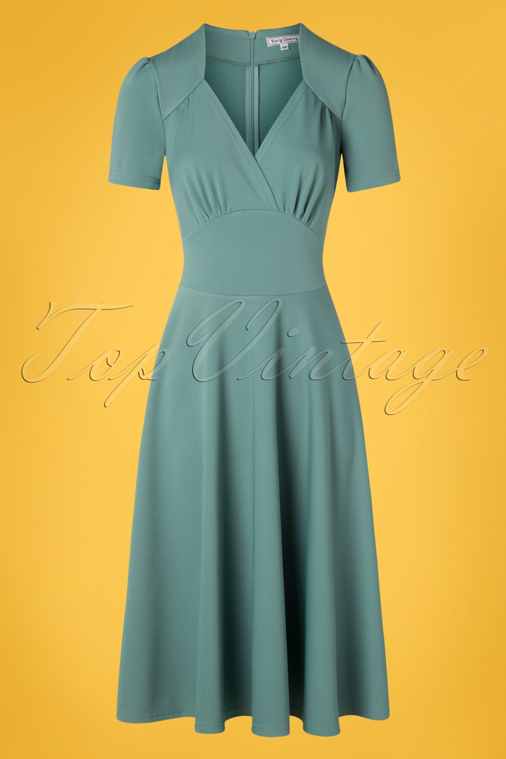 1940s Dresses and Clothing UK | 40s Shoes UK 40s Vivienne Hollywood Circle Dress in Soft Blue �115.93 AT vintagedancer.com