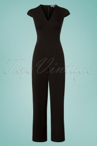 50s Venice Jumpsuit in Black
