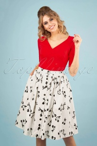Banned 28498 Cherry Pop Front Button Skirt 20181219 0100W
