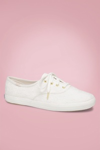 50s Champion Eyelet Sneakers White