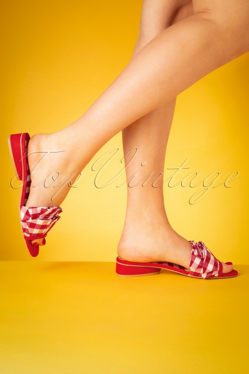 Ruby Shoo 26753 Red Check Sandaal Slipper 20190226 006W