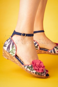 60s Phyllis Wedges in Sage