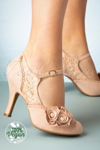 50s Antonia Pumps in Rose Gold