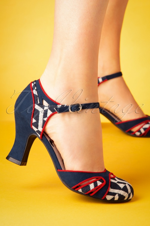 Ruby Shoo 26771 Jeraldine Navy Mary Jane 20190226 006W