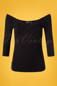 50s Kathy Top in Black