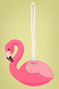 60s Flamingo Luggage Tag
