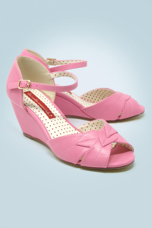 60s Danita Wedge Sandals in Pink