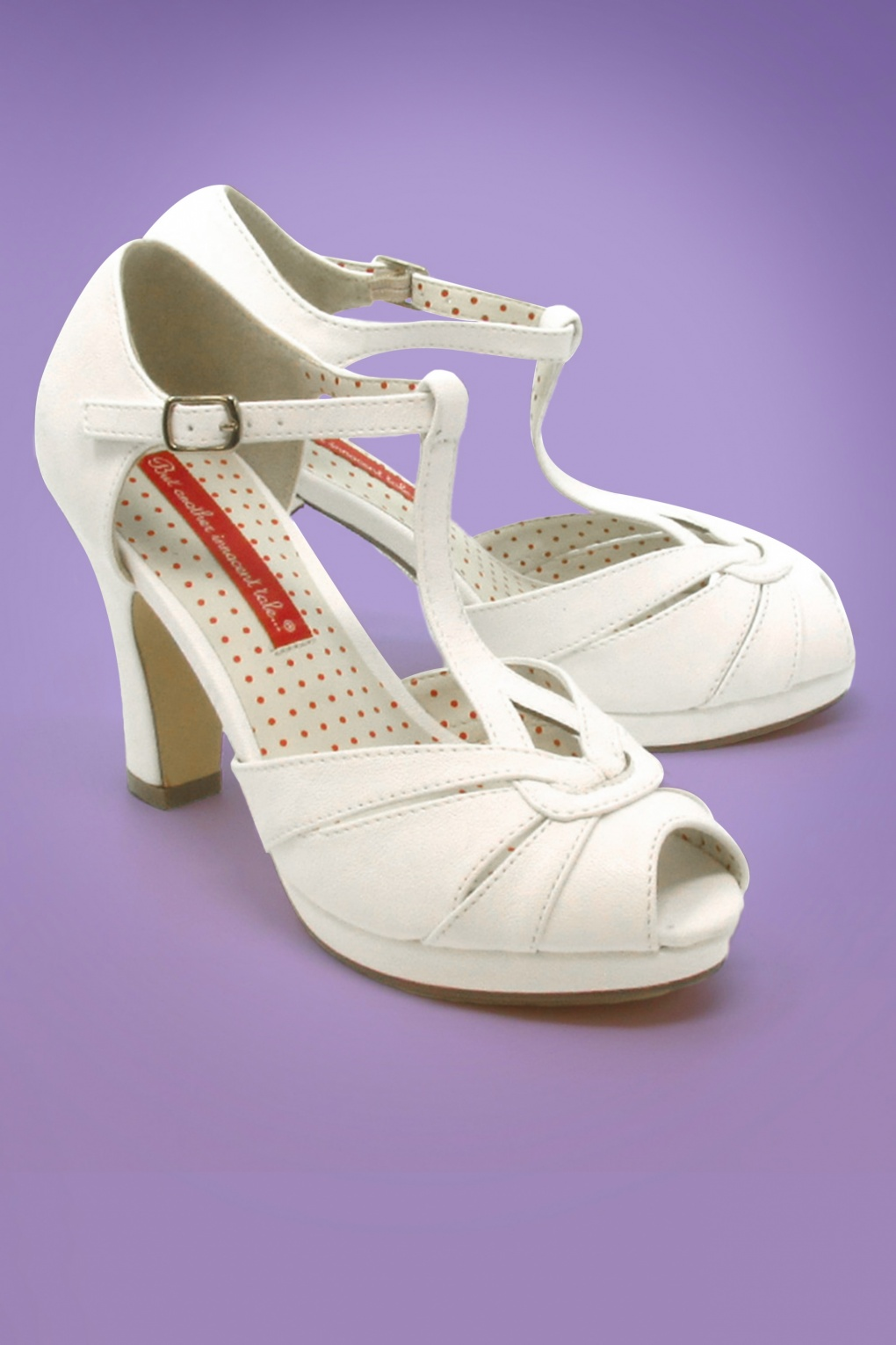 1930s Style Shoes – Art Deco Shoes 30s Lacey Art Deco T-Strap Pumps in Ivory �72.48 AT vintagedancer.com