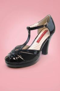 Bait Footwear 29545 Lacey Black Tstrap Heels 20160227 003