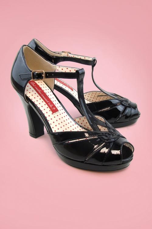 Bait Footwear 29545 Lacey Black Tstrap Heels 20160209 001