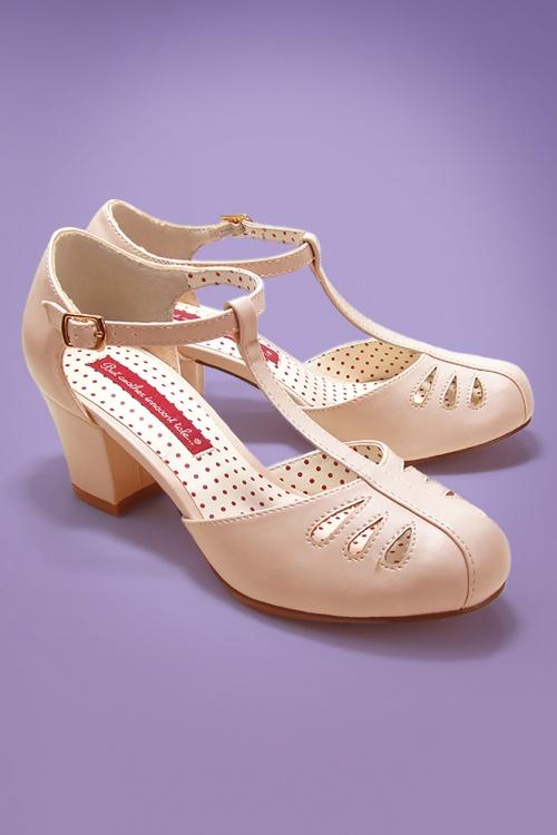 Bait Footwear 29538 Robbie Cream Matt Patent Heels 20170215 001