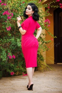 Vintage Diva 28877 Regina Pencil Dress in Hot Pink 20181116 1