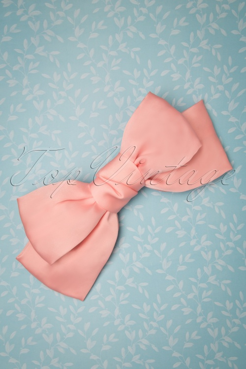 Vixen 27884 Bow Pink Rose 50s Sandy Hair Clip 20190311 010 W