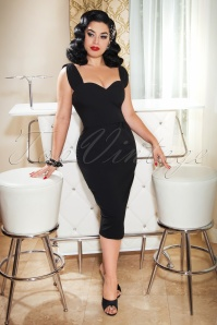 The Nina Pencil Dress in Black