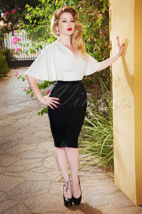 Vintage Diva 28857 Loretta Black and White Pencil Dress 20181116 01