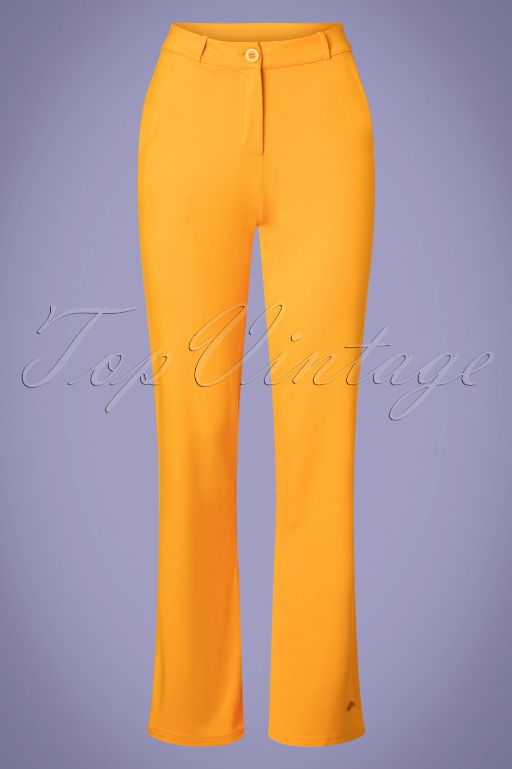 60s Babs Baggy Trousers in Gold Yellow