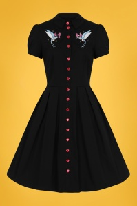 Bunny 50s Jojo Dress in Black