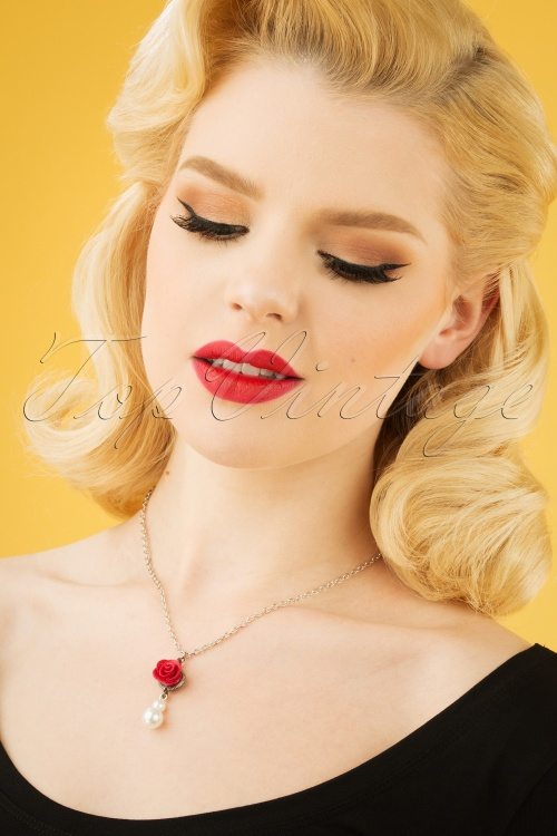 Sweet Cherry 29505 Necklace White Cherry Rose Red Polkadot 20190227 001