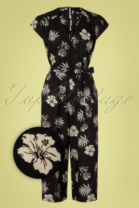 70s Pineapple Jumpsuit in Black