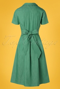 Retuned 29329 Janet Green Swing Dress 20190311 007W