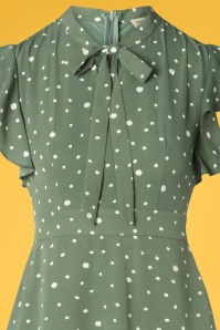 Sugarhill Brighton 27671 Florrie Polkadot Green Dress 20190312 002V
