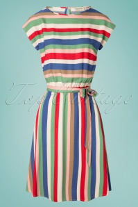 Sugarhill Brighton 60s Connie Cabana Stripes Dress in Multi