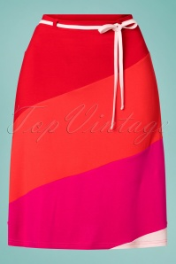 60s Diaz A-Line Skirt in Red