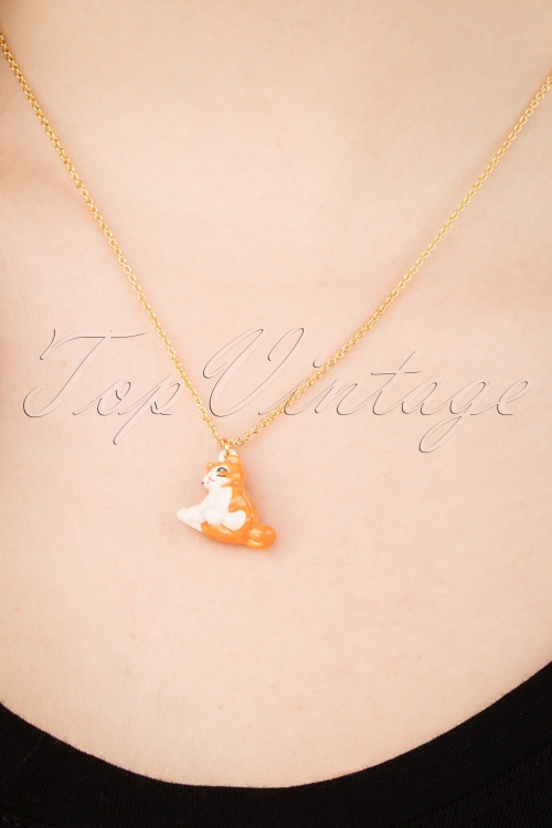 N2 27989 Cat Necklace Orange Kitty 20190228 006