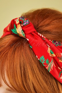 Vixen 27886 Hairband Asian Oriental Red Gold FLower 20190228 006