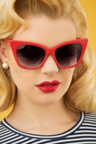 50s Jennifer Retro Shades in Red