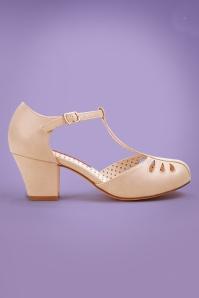 Bait Footwear 29538 Robbie Cream Matt Patent Heels 20170215 002