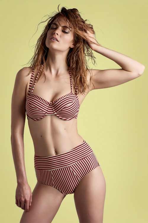 Marlies Dekkers 30111 Bathing Suit Red Striped 20170511 001