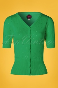 Tante Betsy 60s Shorty Cardigan in Green