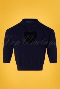 50s Shirley Jumper in Navy