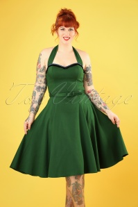 50s Beth Fringe Doll Dress in Green