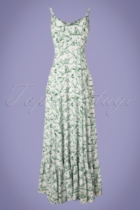 Bright Beautiful 27581 Rose Monkey Jungle Toile Dress in Green White 20181217 013W