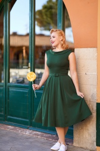Miss Candyfloss 28680 Emerald Green Bow Swing Dress 20190313 02