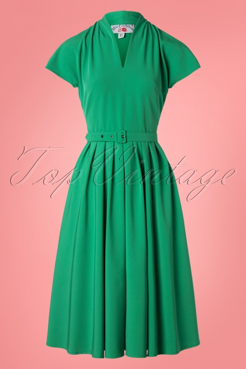 Miss Candyfloss 28676 Green Swing Dress 20190313 001W