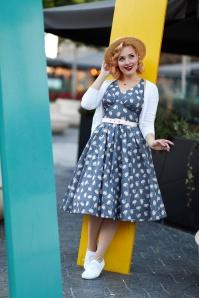 Miss Candyfloss 28672 Blue Swans Swing Dress 20190313 010