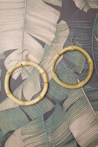 50s Tammy Large Bamboo Earrings
