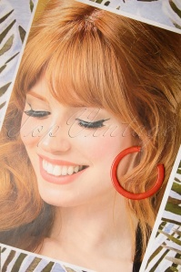 Darling Divine 29003 Earrings Oorbellen Orange Hoops 20190313 003 W