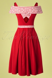 Miss Candyfloss 28687 Red Daisy Swing Dress 20190313 008W