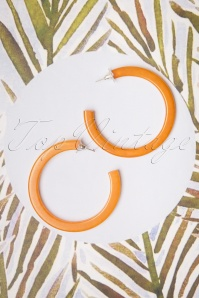 Darling Divine 60s Hoop Earrings in Ocher