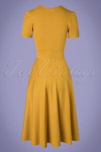 Very Cherry 27002 Hollywood Circle Dress in Mustard 20190312 005W