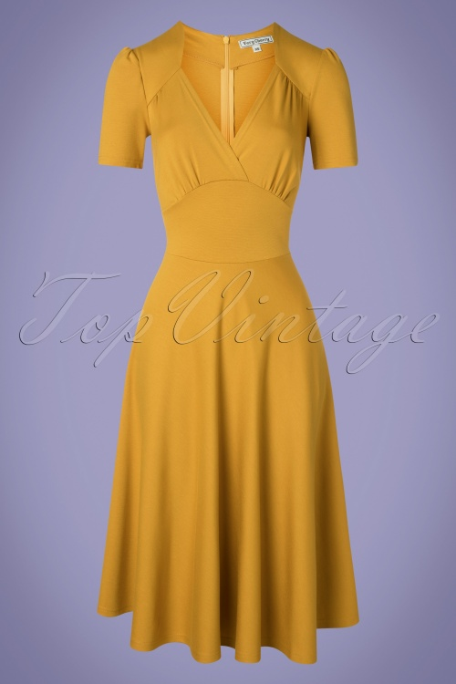 Very Cherry 27002 Hollywood Circle Dress in Mustard 20190312 001W